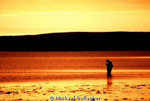&quot;Solitude&quot;. Sunset in the Orkney Islands in midsummer, af... by Michael Gallagher 